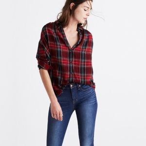 Madewell - central tartan plaid shirt- XS